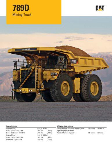 789D Caterpillar Global Mining PDF Catalogs Technical