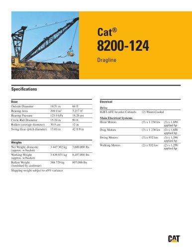 Cat® 8200-124 Dragline