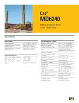 Cat® MD6240 Rotary Blasthole Drills (12 or 15 m Mast) - 1