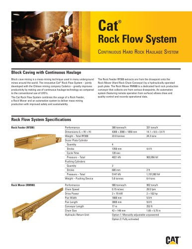Cat ® Rock Flow System