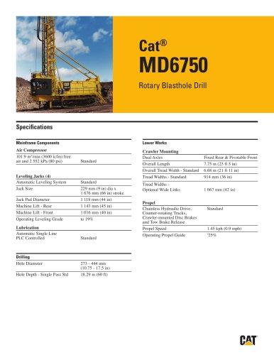 Cat® Rotary drills MD6750