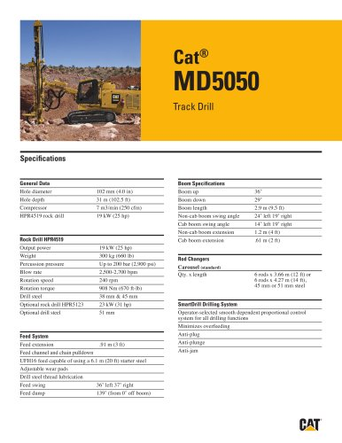 Cat® track drills MD5050