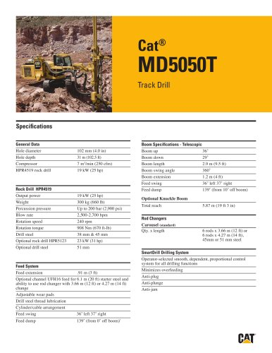Cat® track drills MD5050 T