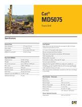 Cat® track drills MD5075 - 1