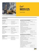 Cat® track drills MD5125 - 1
