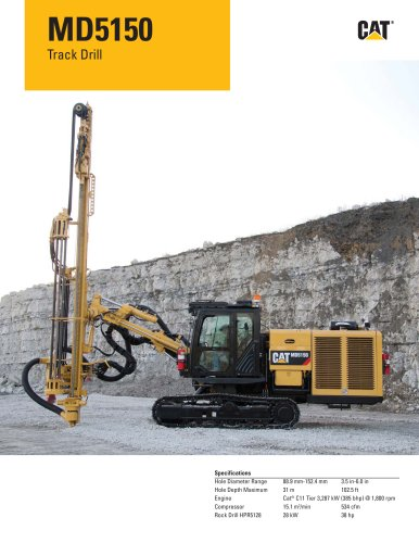 Cat® track drills MD5150