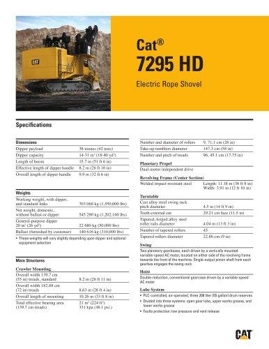 Electric Rope Shovels 7295 HD