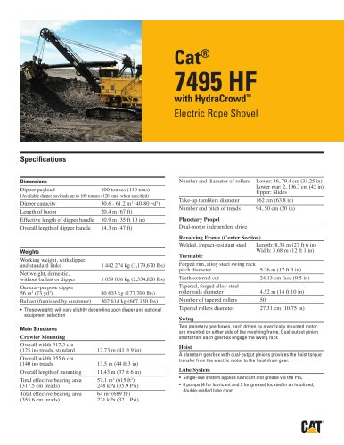 Electric Rope Shovels 7495 HF