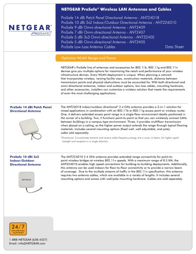 ANT224D10 ProSAFE® 10 DBI Antenna