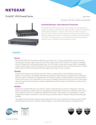 ProSAFE VPN Firewall Family
