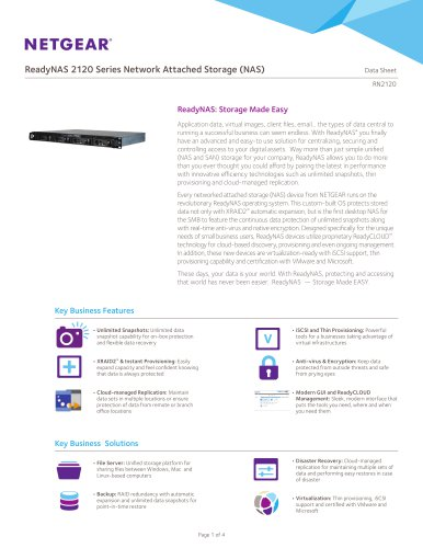 ReadyNAS 2120 Series Network Attached Storage (NAS)