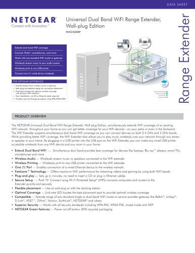 Universal Dual Band WiFi Range Extender, Wall-plug Edition WN3500RP