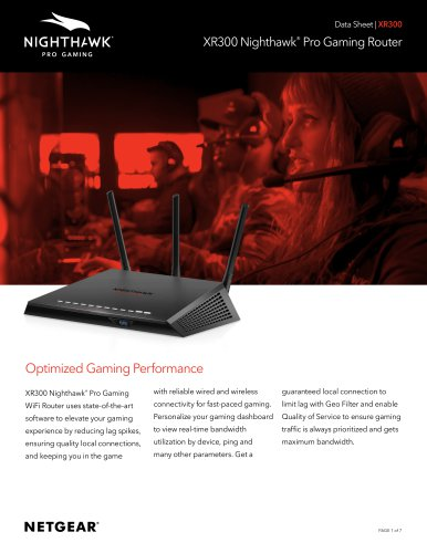 XR300 Nighthawk®  Pro Gaming Router
