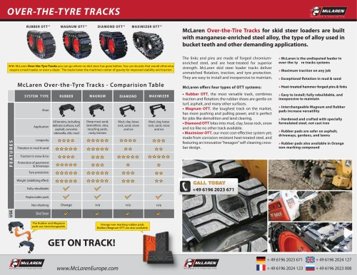 McLaren Over-the-tire Tracks Brochure