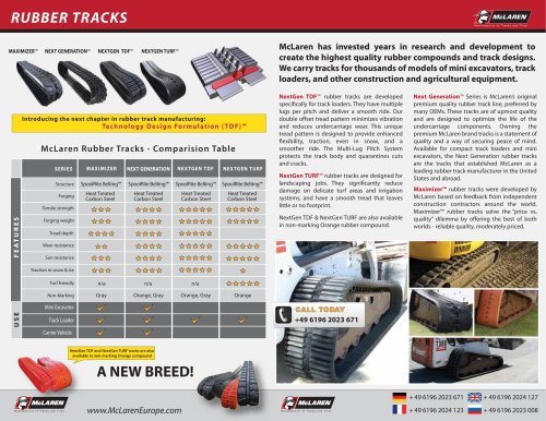 McLaren Rubber Tracks Brochure