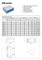 Aluminum & Plastic desktop enclosure 02A-1