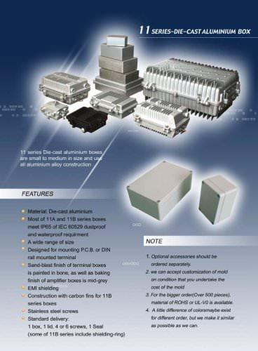 Series -die-cast aluminium box