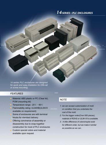 series - PLC enclosures