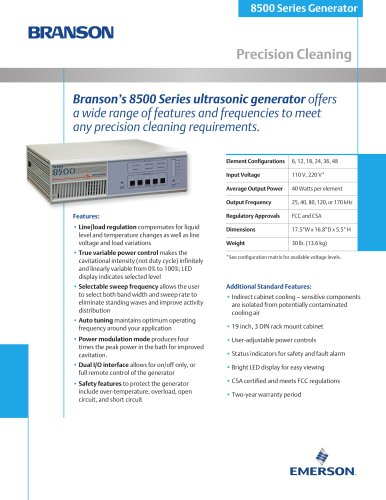 Branson's 8500 Series