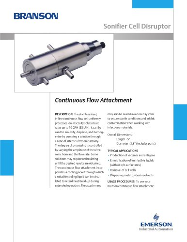 Continuous Flow Attachment