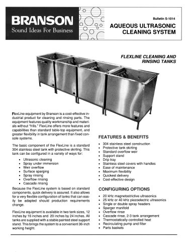 FlexLine Cleaning and Rinsing Tanks