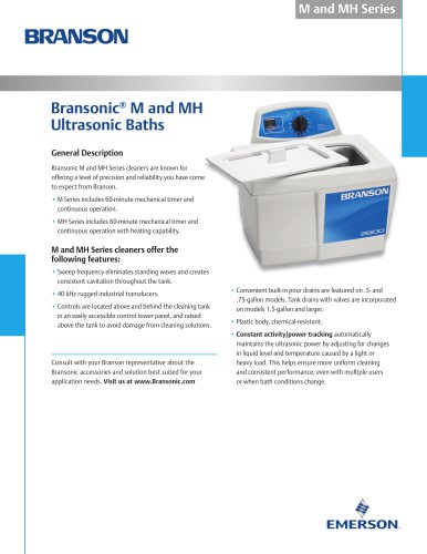 M and MH Ultrasonic Baths