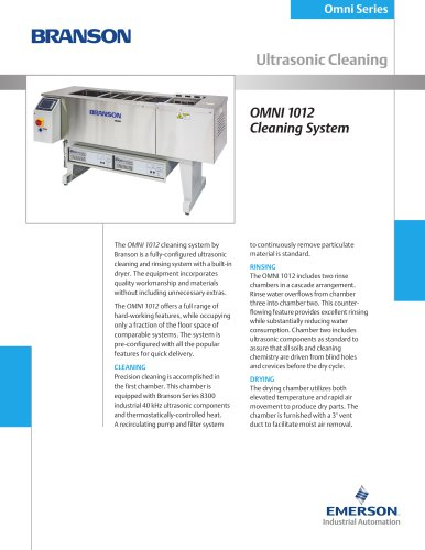 OMNI 1012 Cleaning System