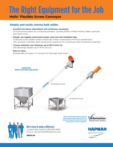 FLEXIBLE SCREW CONVEYORS - Hapman - PDF Catalogs | Technical