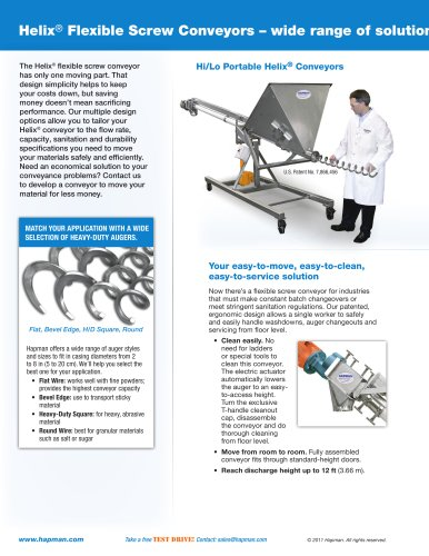 Helix® Flexible Screw Conveyors