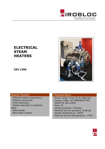 Electrical steam heaters