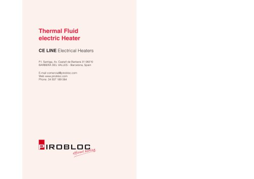 Thermal fluid electric heater