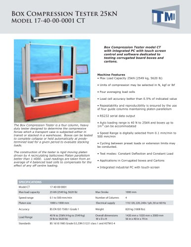 17-40 Box Compression Tester 25kN - AT