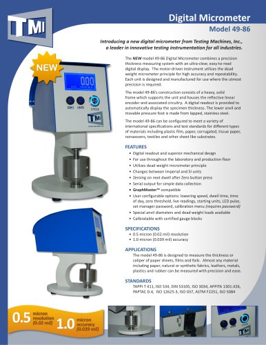 49-86 Digital Micrometer