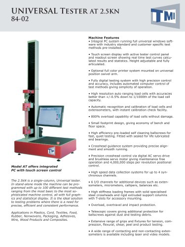 84-02 Universal Tester 2.5kN - AT
