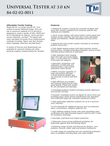 84-02 Universal Tester 3kN - AT (Textiles)