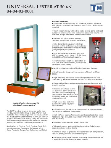 84-04 Universal Tester 50kN - AT