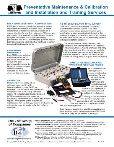 Preventative Maintenance & Calibration Kit