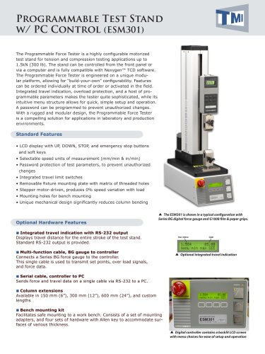 Programmable Test Stand ESM-301