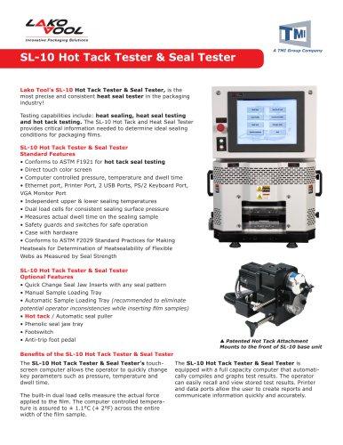SL-10 Hot Tack Tester & Seal Tester