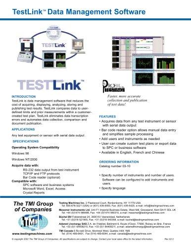TestLink Data Management Software