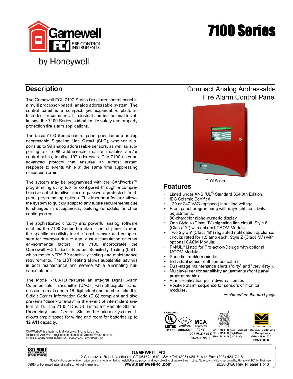 Gamewell Fire Alarm Wiring Diagram Pdf Posts Styles 7100 Series Fci Catalogue Technical Documentation