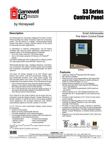 S3 Series Control Panel