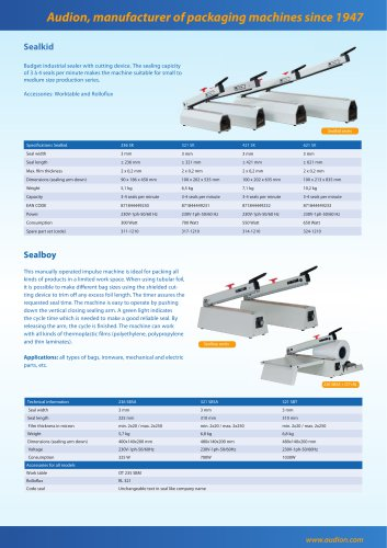 Audion, manufacturer of packaging machines since 1947