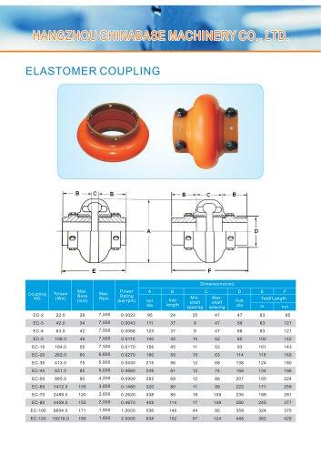 Chinabase Elastomer Coupling EC-2 EC-3 EC-4 EC-5