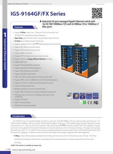 IGS-9164GF/FX Series