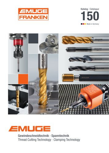 EMUGE – Catalogue 150 Thread Cutting Technology / Clamping Technology