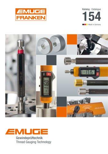 EMUGE – Catalogue 154 Thread Gauging Technology