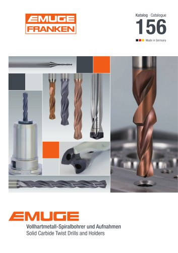 EMUGE – Catalogue 156 Solid Carbide Twist Drills and Holders