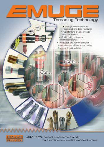 EMUGE Cut&Form thread technology
