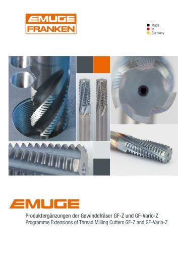 EMUGE GF-Z / GF-Vario-Z Thread Milling